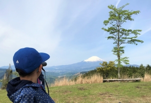 富士山がよく見えたよ