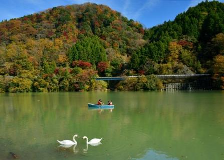 丹沢湖秋景